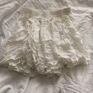 Brandy Melville White Skater Skirt
